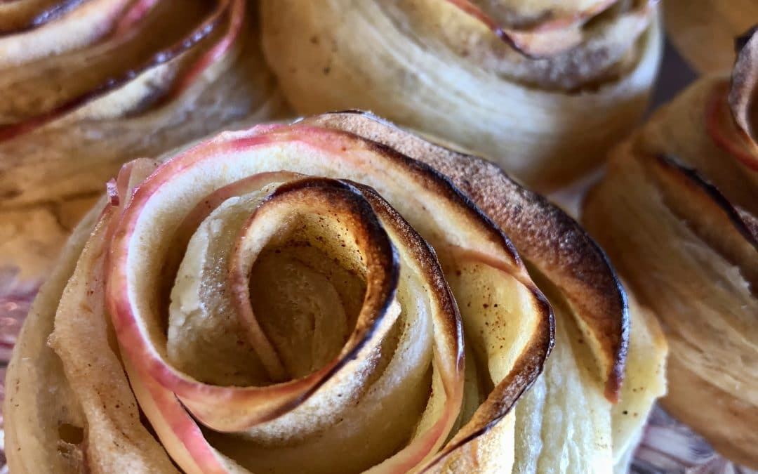 Caramel Apple Rosettes